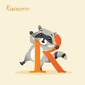 Animal Alphabet With Raccoon