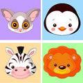 Animal avatars Stock Photography