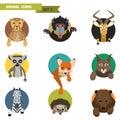 Animal Avatars. Vector Illustr...