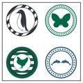 Animal badges Royalty Free Stock Photo