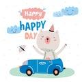 Animal Birthday greeting card design