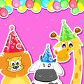 Animal Birthday Party Royalty Free Stock Images