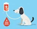 Animal Blood Donor. Vector Ill...