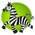Animal bonito da zebra character.striped dos desenhos animados Fotografia de Stock