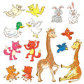 Animal Cartoon Set.