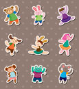 Animal dance stickers Royalty Free Stock Photo