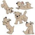 Animal de estimação dos desenhos animados. filhote de cachorro de animal.cute Imagens de Stock Royalty Free