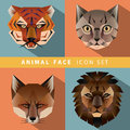 Animal Face Icon Set