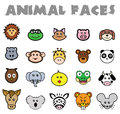 Animal faces this is a great set of vectorized animals it is full editable and resizable Royalty Free Stock Images