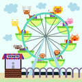 Animal ferris wheel illustration of animals riding a Stock Photos