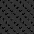 Animal Footprint Seamless Dark...