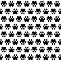 Animal footsteps seamless pattern with on white background Royalty Free Stock Photography