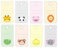 Animal gift tags Stock Photos