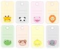 Animal gift tags Royalty Free Stock Photo