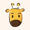 Animal giraffe flat icon elements eps vector illustration file Royalty Free Stock Photography