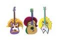 Animal guitar portrait Royalty Free Stock Photo