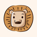 Animal Lion Flat Icon Elements...