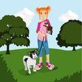 Animal Lover Girl