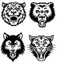 Animal mascot vector logo set of logos Stock Photography