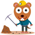 Animal miner illustration of a gopher with a s work Stock Photo