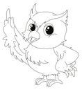 Animal outline for cute owl