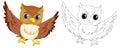 Animal Outline For Owl