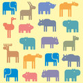 Animal pattern illustration of seamless Stock Photo