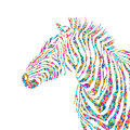 Animal pazzle shapes illustration silhouette cute zebra. EPS Royalty Free Stock Photo