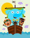 Animal pirates a cute illustration of Stock Photography
