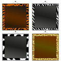 Animal print frames Royalty Free Stock Photography