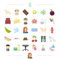 Animal, profession, food and other web icon in cartoon style. appearance, cosmetics, clothing icons in set collection.