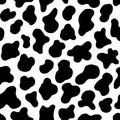 Animal seamless pattern. Cow Hide, Holstein cattle texture. Mammals Fur. Print skin. Predator Camouflage. Printable Royalty Free Stock Photo