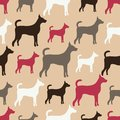 Animal seamless vector pattern of dog silhouettes endless texture can be used for printing onto fabric web page background and Stock Photo