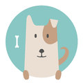 Animal set portrait in flat graphics dog pet Stock Photo