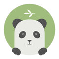 Animal set. Portrait in flat graphics - Panda Royalty Free Stock Photo