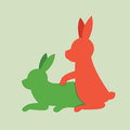 Animal sex rabbits icon Stock Photography