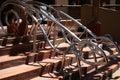 Animal shape stair rail Royalty Free Stock Image