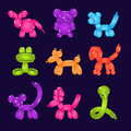Animal Shaped Colourful Balloons Vector