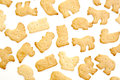 Animal shaped crackers Stock Image