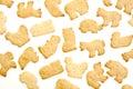 Animal shaped crackers Royalty Free Stock Photo