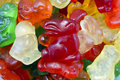 Animal shaped easter gummies close up Stock Images