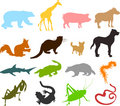 Animal silhouettes 03 Royalty Free Stock Image