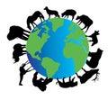 Animal silhouettes Royalty Free Stock Photo