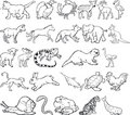 Animal Silouettes Stock Images
