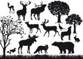 Animal And Tree Silhouettes