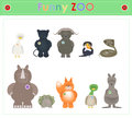 Animal Zoo, part four Funny small plush animals. cartoon Vector