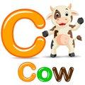 Animals alphabet: C is for Cow