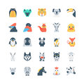 Animals and Birds Colored Vector Icons 4