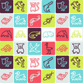 Animals checked pattern Stock Images