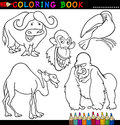 Animals for Coloring Book or Page Stock Photography